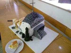 Den Rest des Kirchturmkuchens gab es am nächsten Tag im Kindergarten