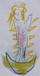 Die Himmelskönigin, von Konfi gemalt