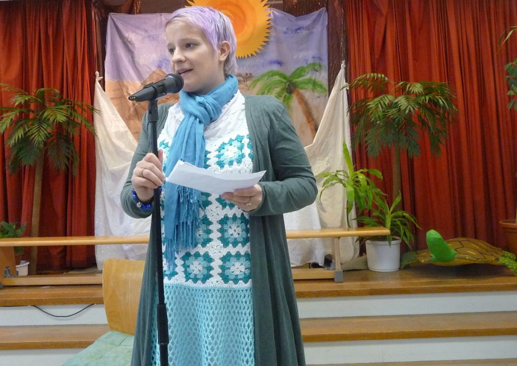 Begrüßung durch die Kita-Ausschuss-Vorsitzende Sabrina Stratil