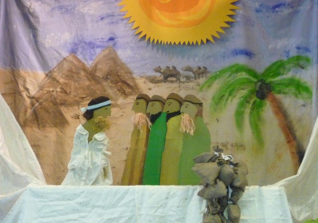 Josefs Brüder kommen zu ihm und bitten um Hilfe in der Hungersnot