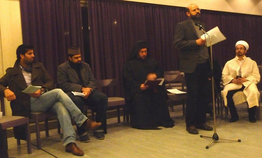 Abderrahim En-Nosse von der Islamischen Gemeinde Gießen erinnert an das Friedensgebot im Koran