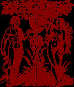 Adam und Eva essen vom Baum des Todes