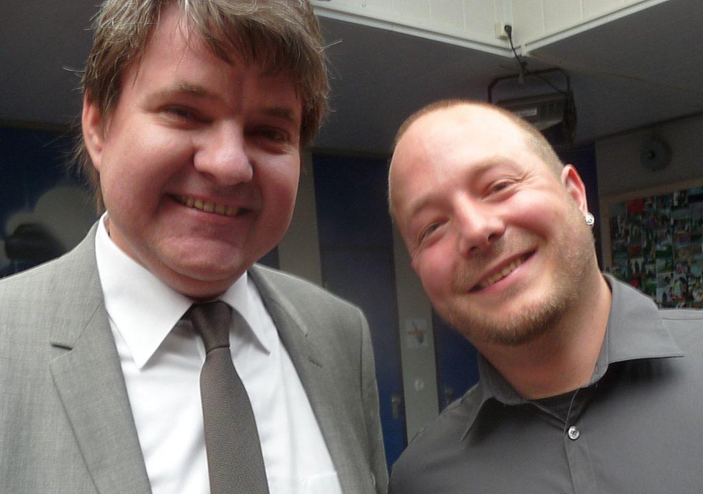 Christoph von Weyhe und Simon Schmidt