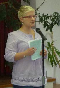 Kirchenvorsteherin Sabrina Stratil