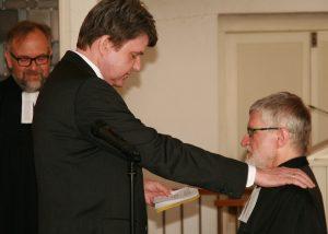 ... und Kirchenvorstandsvorsitzender Christoph von Weyhe...