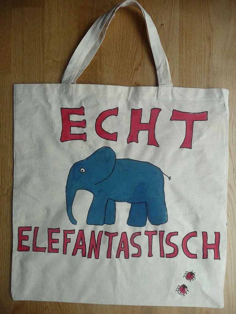 ... mit einer elefantastischen Stofftasche...