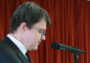 Christoph von Weyhe eröffnet die Grußworte