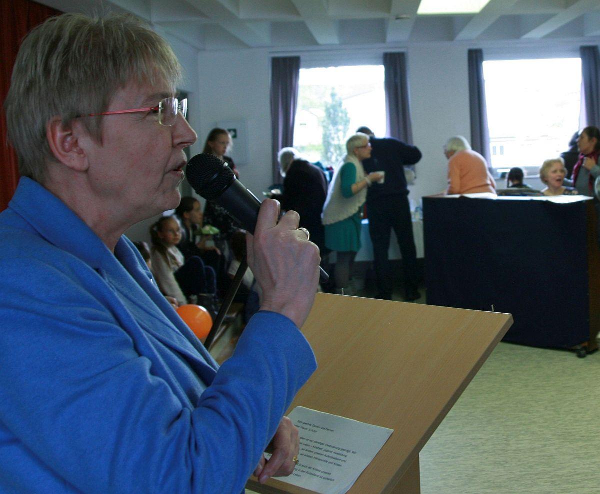 Bürgermeisterin Gerda Weigel-Greilich ist gern gekommen