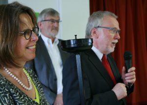 Anette Bill und Christoph Geist von der Jugendwerkstatt...