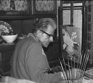 Rudi-Schütz 1967 an der Staffelei