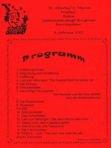Das Programm der Albertusfastnacht 2007