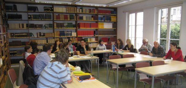 Students in the workshop on October 23, 2009 in Heidelberg