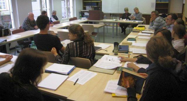 In the workshop about the illegitimacy of Jesus with Jane Schaberg and Helmut Schütz in Heidelberg