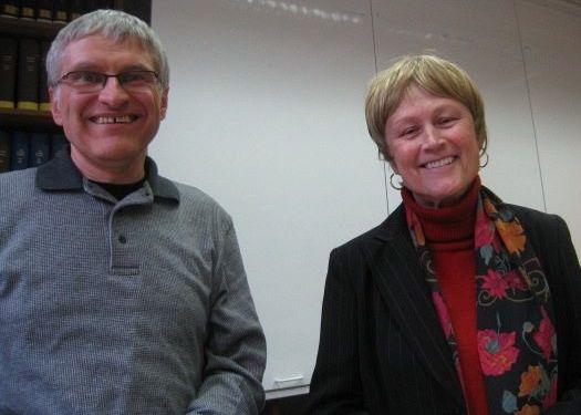 Helmut Schütz with Jane Schaberg in October 2009