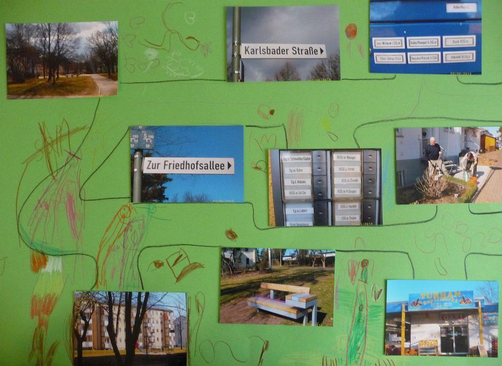 Eine Foto-Collage: Nachbarschaft auf dem Gießener Rodtberg