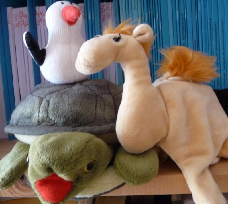 Die Schildkröte Zappi, der Pinguin Fischli und das Kamel Jamal