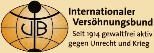 Das Logo des Internationalen Versöhnungsbundes - seit 1914 gewaltfrei aktiv gegen Unrecht und Krieg