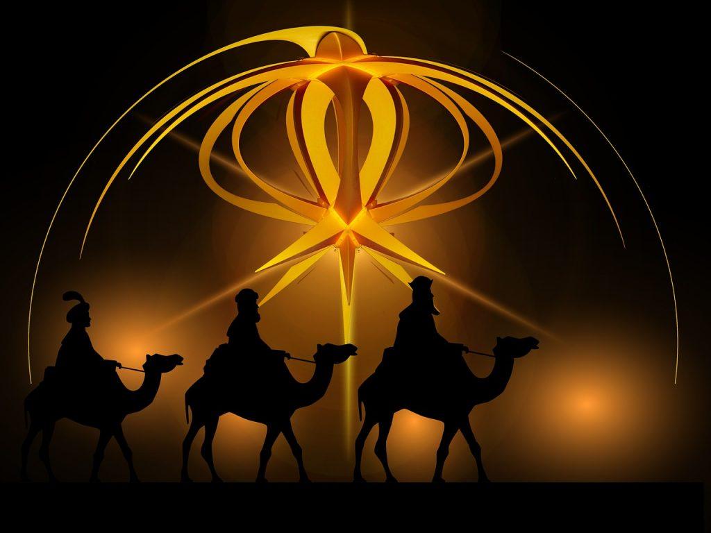Die Heiligen Drei Könige unter dem Stern