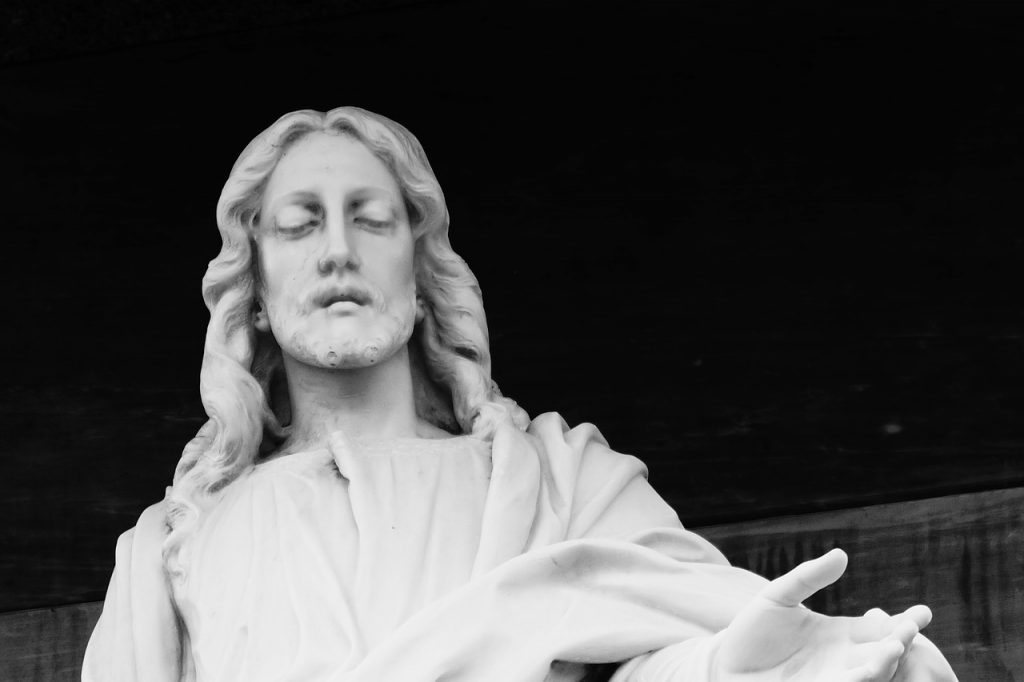 Eine Jesus-Statue aus El Salvador