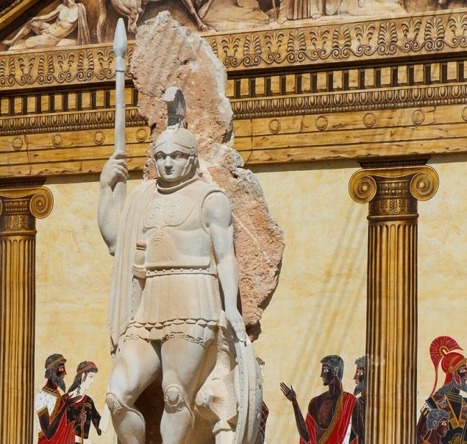 Statue eines römischen Soldaten