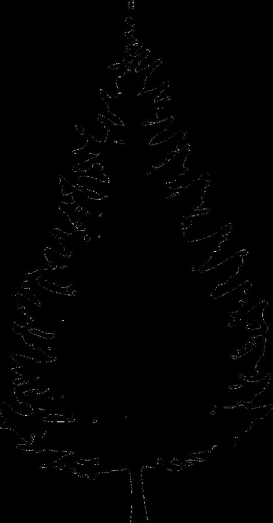 Weihnachtsbaum-Silhouette