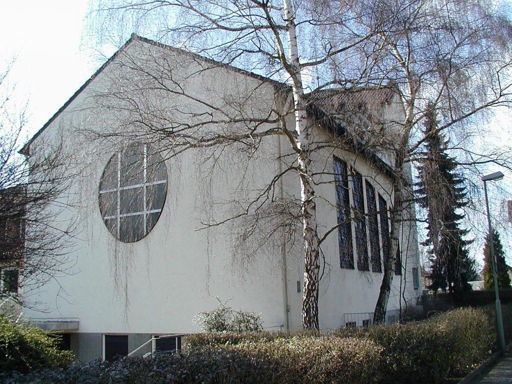 Rückansicht der Pauluskirche im Jahr 1998
