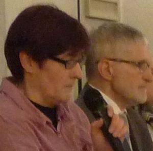 Prädikantin Gaby Engel und Pfarrer Helmut Schütz