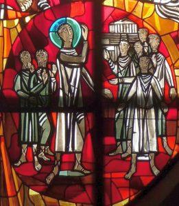 Altarfensterbild: Paulus in Athen