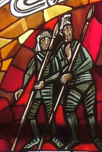 Altarfensterbild: Soldaten