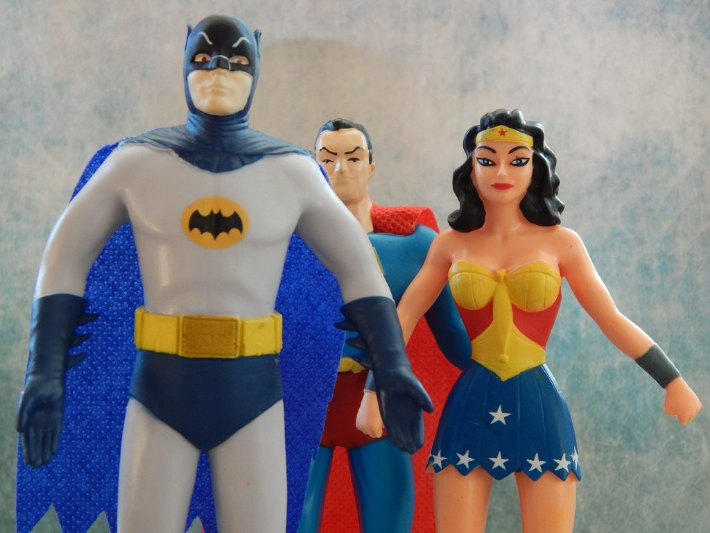 Batman, Superman und Wonderwoman