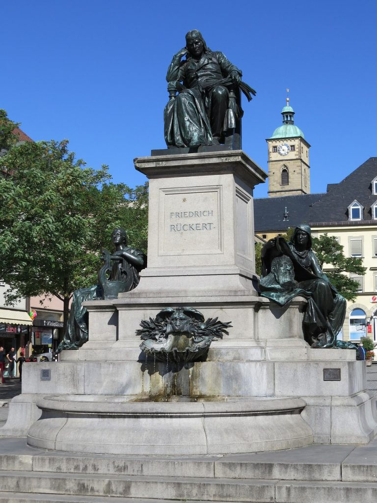 Denkmal für Friedrich Rückert in Schweinfurt