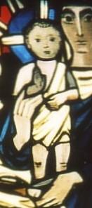Das segnende Jesuskind auf dem Arm der Mutter