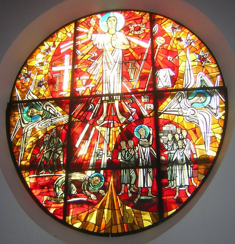 Das Paulus-Altarfensterbild, wie es in der Bildmeditation beschrieben wird