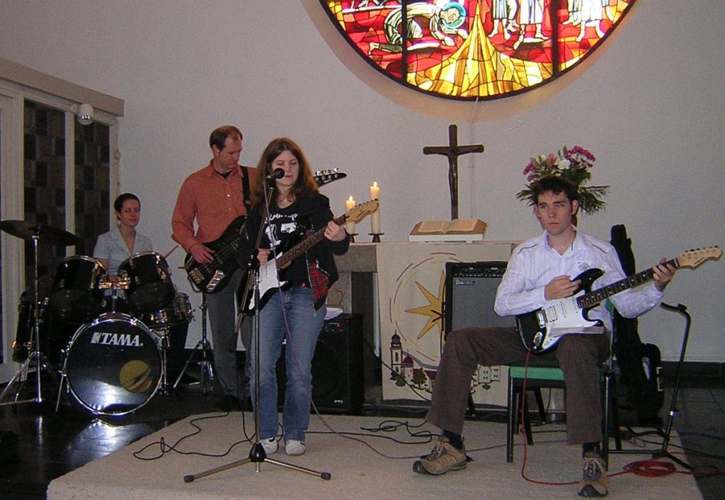 Die Jugendband mit von Weyhe, Hinz, Klinkert und Schmucker