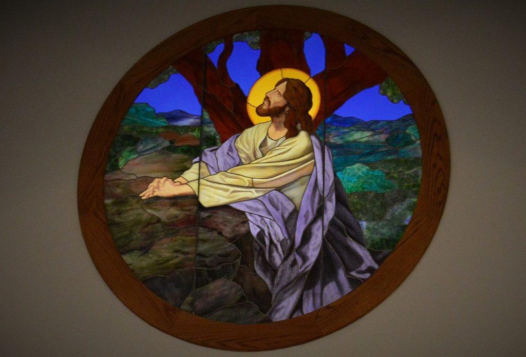 Jesus im Garten Gethsemane, betend