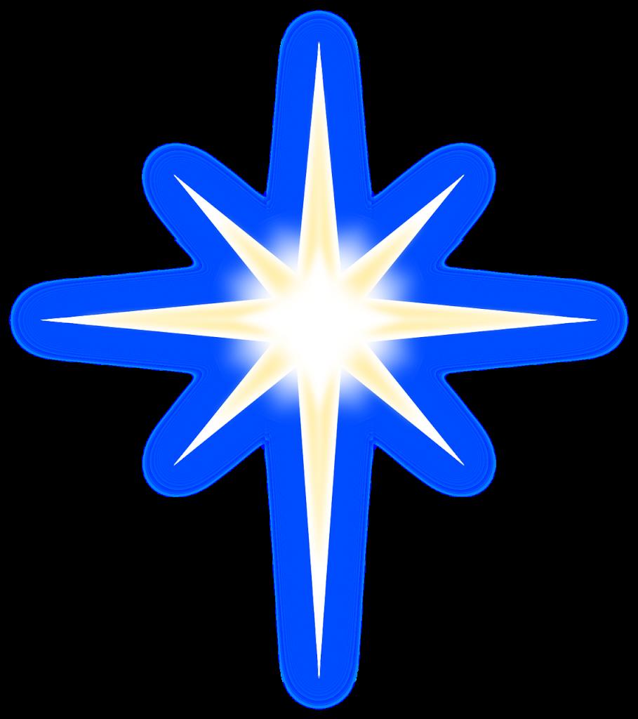Ein leuchtender stilisierter Stern