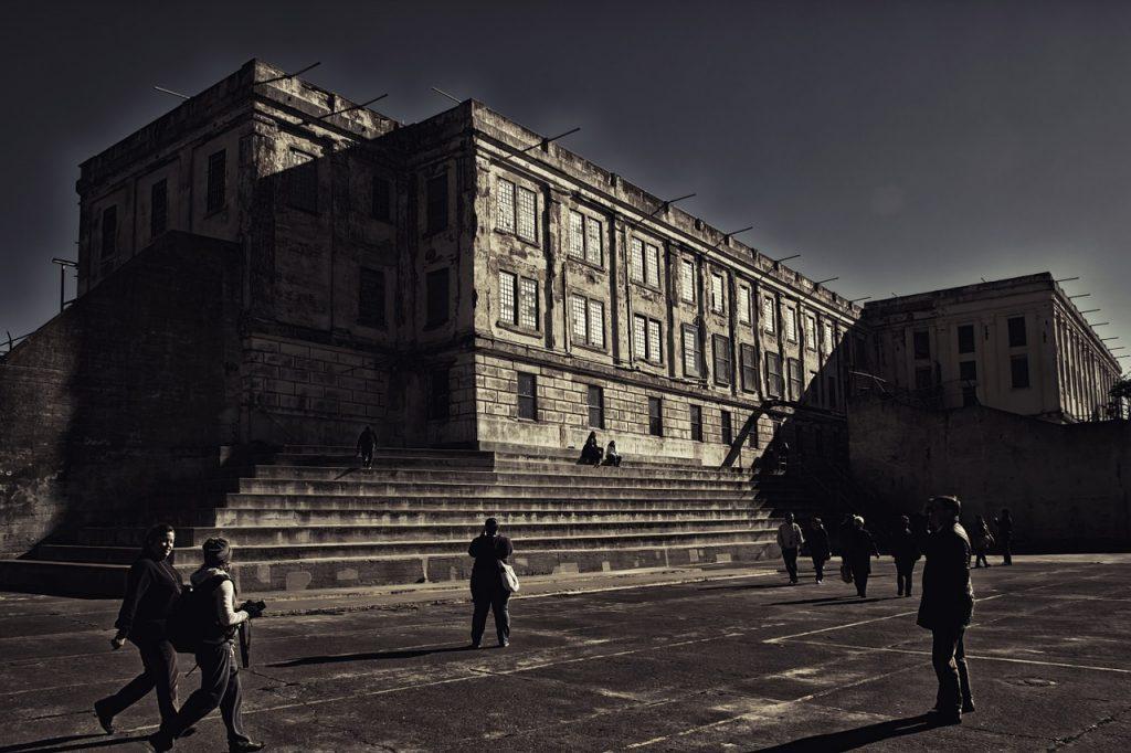 Zellentrakt des Gefängnisses Alcatraz in San Francisco
