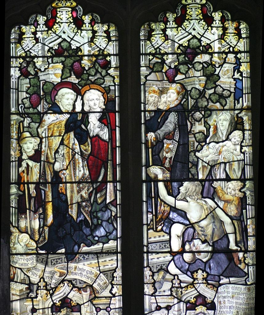 Petrus und Johannes heilen einen Gelähmten am Tor des Tempels