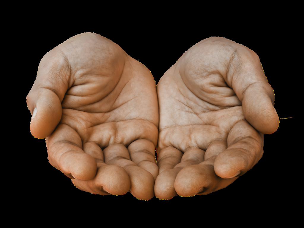 Geöffnete leere Hände