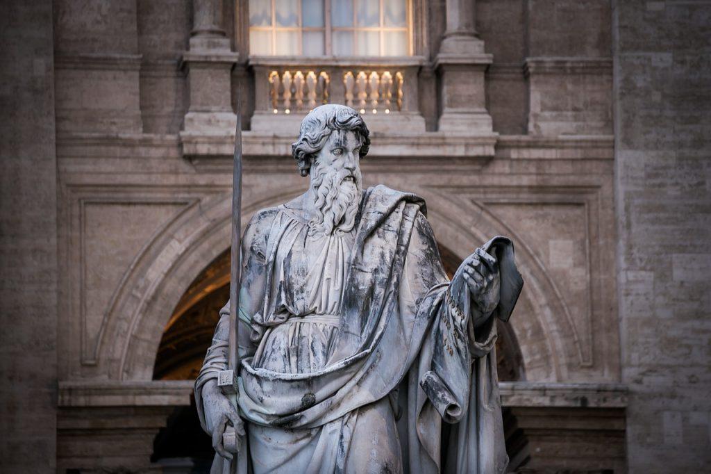 Statue des Apostels Paulus in Rom
