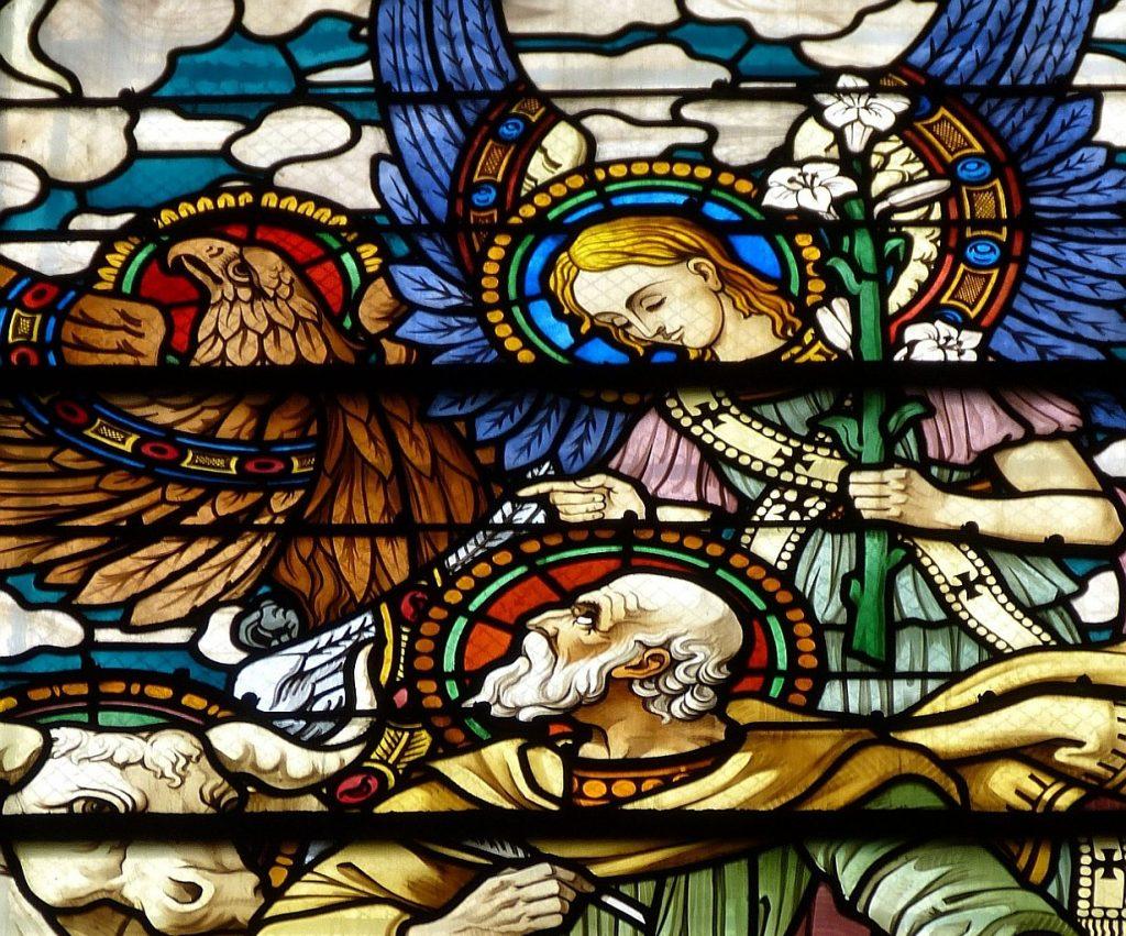 Der Prophet Hesekiel oder Ezechiel (oberer Teil des Bildes)