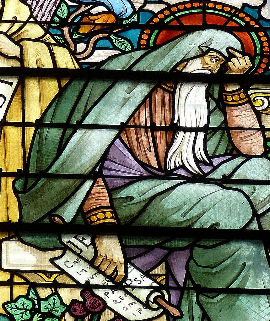 Kirchenfenster mit dem Propheten Jeremia
