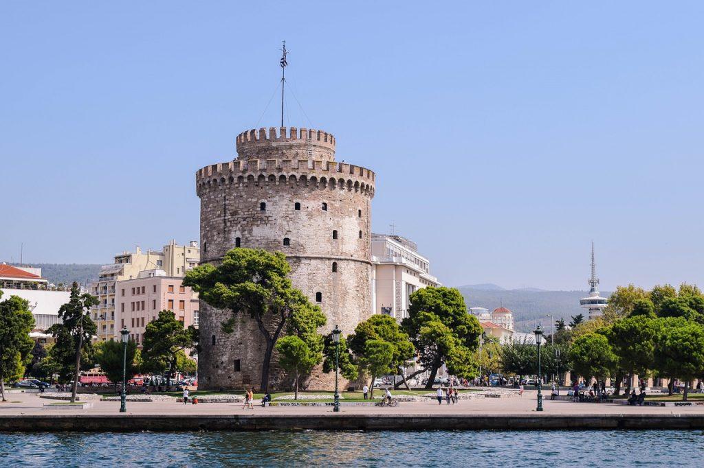 Der weiße Turm in Thessaloniki im heutigen Griechenland