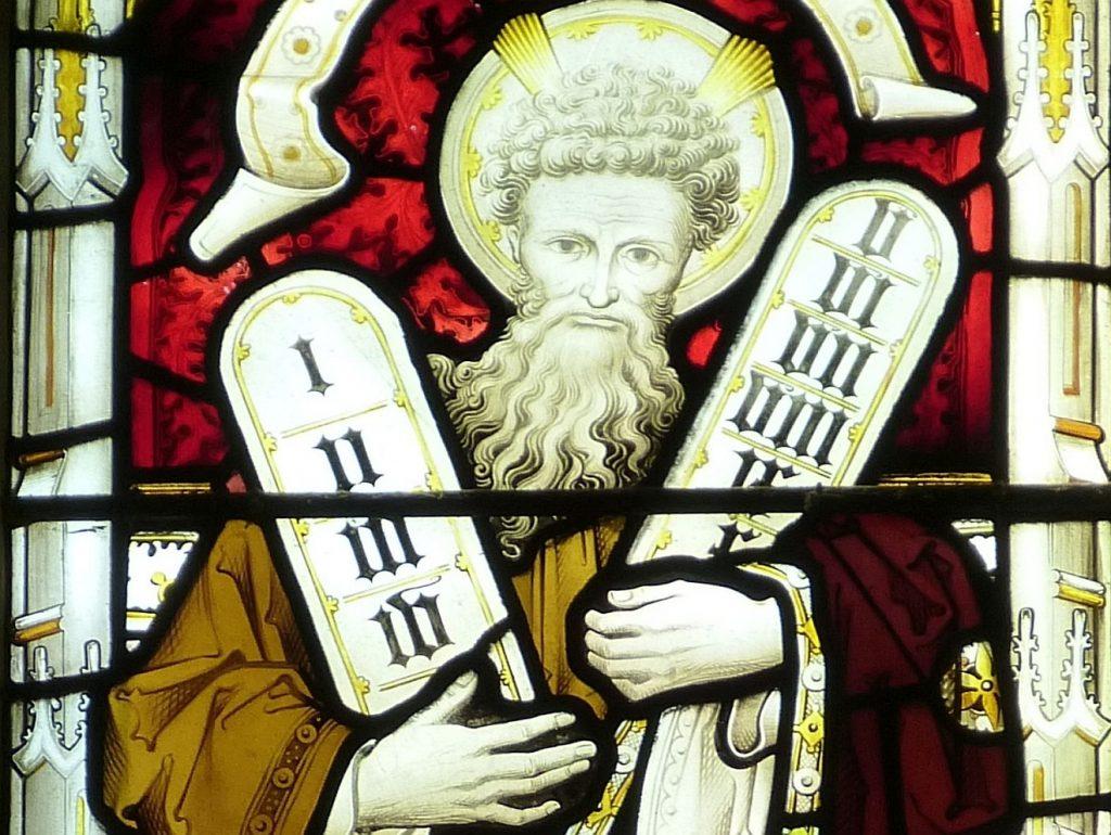 Mose mit den Tafeln der Zehn Gebote oder Zehn Worte