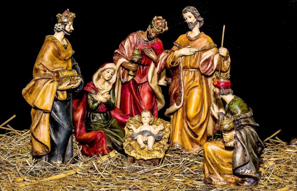 Krippendarstellung mit den Heiligen Drei Königen