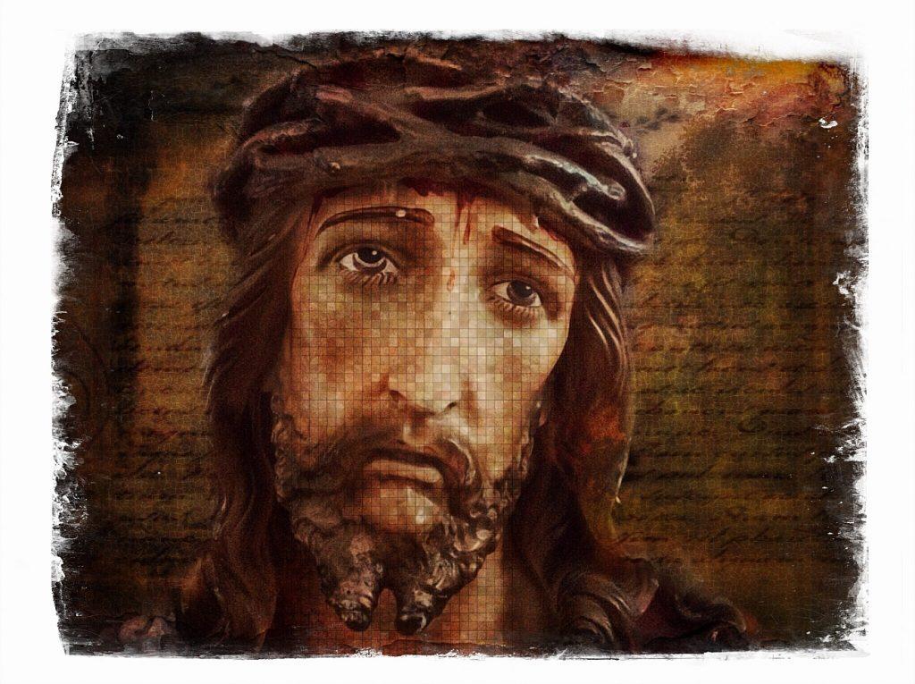 Das Gesicht von Jesus Christus in seinem Leiden