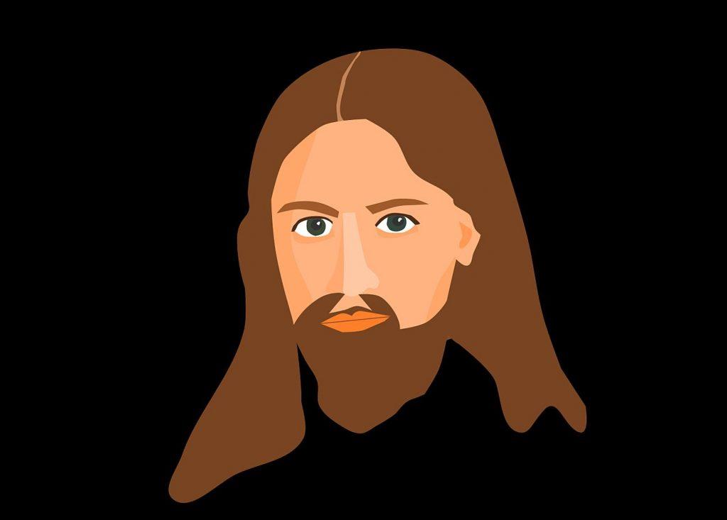 Ein stilisiertes Portrait von Jesus