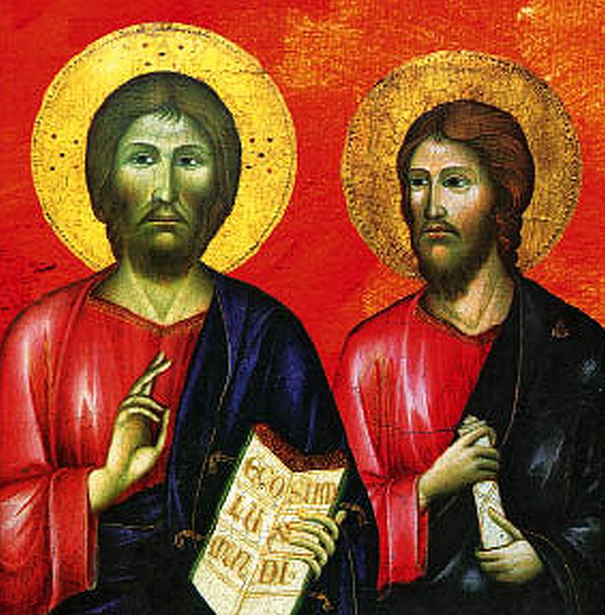 Darstellung von Jesus und seinem Bruder Jakobus dem Gerechten