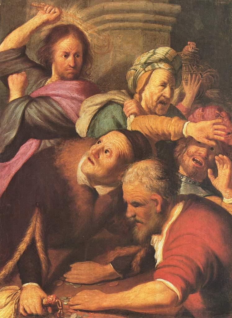 Rembrandt: Die Tempelreinigung durch Jesus