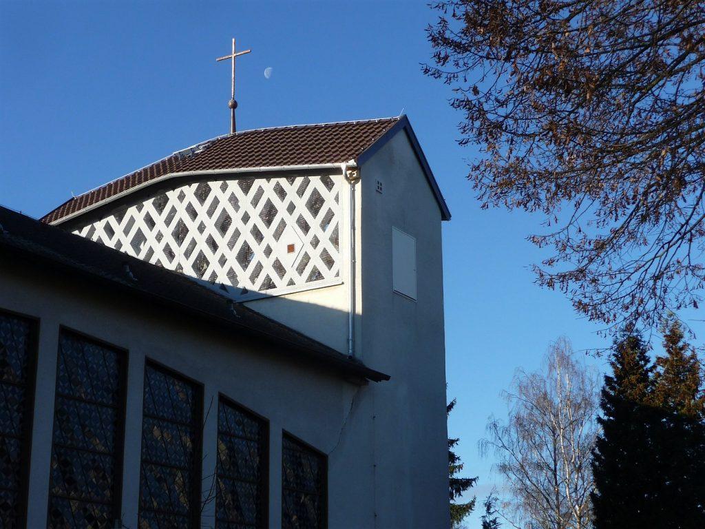 Sanierter Kirchtum der Evangelischen Pauluskirche Gießen